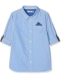 Scotch & Soda Jungen Hemd Blue Series Shirt with Roll-up Sleeves & Detachable Pocket S