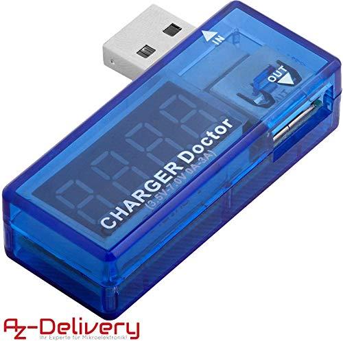 AZDelivery USB Charger Doctor Multimeter Ladegerät Detektor Stromverbrauchsmesser Spannungsmesser Digitaler Voltmeter