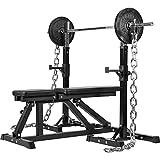 GORILLA SPORTS® Power Ketten 2er-Set 16-32 kg Stahl – Gewichtsketten mit Verschlüssen 30/31 mm oder 50/51 mm