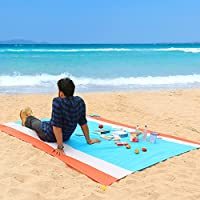 WolfWise Picnic Blanket 79 x 79 Inch Water-Resistant Sand Proof Extra Large Beach Mat for Outdoor Camping Hiking