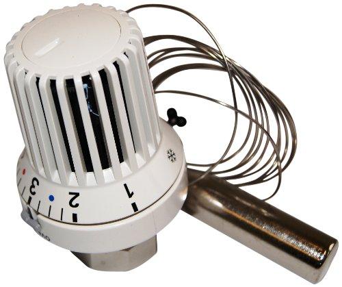 1011565 Thermostatkopf Uni XH mit Fernfühler und nullstellung 2 m, weiß