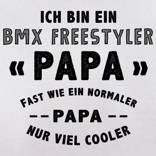 Ich bin ein BMX Freestyler Papa - Herren T-Shirt - 13 Farben Weiß