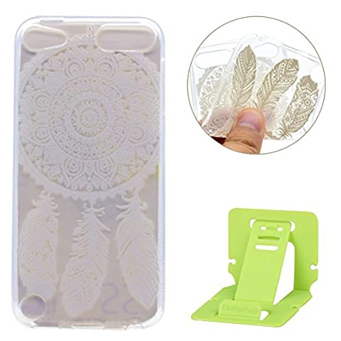 ipod Touch 6 Soft Silicone Populaire Coque,Transparente Flexible TPU Couqe