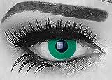 meralens una coppia colorata Crazy Fun Verde Smeraldo anno kontaktlinsen. perfetto per Halloween, Carnevale, o carnevale con gratis lenti a contatto senza Forza.