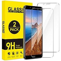 ivencase [2 Pièces] Verre Trempé Xiaomi Redmi 7A, Film Protection en Verre trempé, sans Bulles d'air, Anti-Rayures, écran Tactile Transparent HD 9H pour Xiaomi Redmi 7A