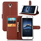 Badhiyadeal Premium Quality Leather Flip cover For Lenovo zuk z1-Brown