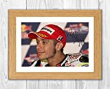 Engravia Digital Valentino Rossi (2) Poster Signed Autograph Reproduction Photo A4 Print (Oak Frame)