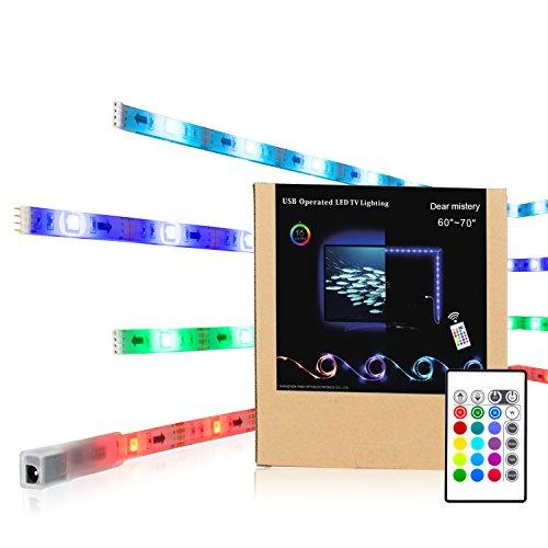 Tira LED,USB Tira Luz Led Tira Led rgb 5050 mit Fernbedienung,Tira de...