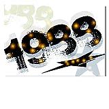 DigitalOase Glückwunschkarte 1988 30. Geburtstag Jubiläumskarte 30. Jubiläum Geburtstagskarte Grußkarte Format DIN A4 A3 Klappkarte PanoramaUmschlag #WALK