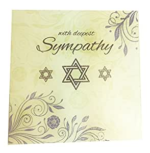 with deepest sympathy card jewish condolences star of david mourning hebrew - Deepest Sympathy Card