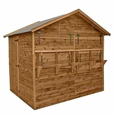 Verkaufsstand 250 x 180 x 245 cm Marktstand, Verkaufshütte Verkaufsladen aus Holz (kdi) inkl Boden und Dachpappe von dein-spielplatz bei Du und dein Garten