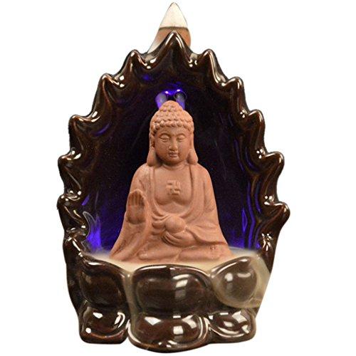 LED Changeant Brûle-encens Brûleur de Cône Encens Encensoir Refoulement - Bouddha