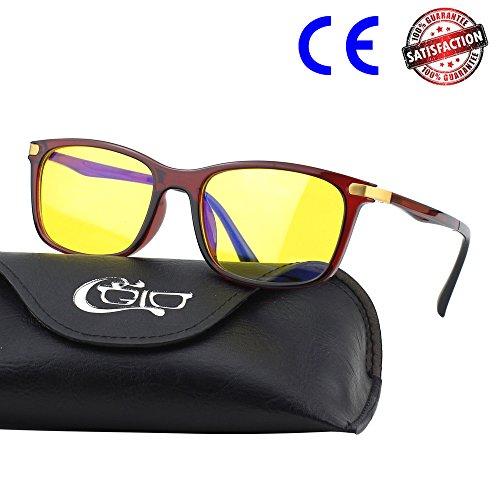 CGID YL46 Premium TR90 Rahmen Bildschirmbrille, Blaulichtschutz, Brille gegen Augenmüdigkeit,...