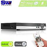 ANRAN 4 Canaux 1080N DVR HDMI H.264 CCTV Enregistreur vidéo numérique Digital Video Recorder Système de sécurité 720P Soutient la surveillance via Smartphone ou Ordinateur(NO HDD)