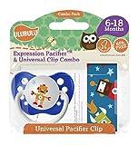 Ulubulu Pacifier Clip,Robot and Robot Universal, 6-18 months