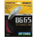 Yonex Titanium BG 65 Badminton Strings, 0.70mm