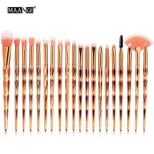 Make Up Pinsel Set 20 pcs Foundation Eyebrow Eyeliner Blush Cosmetic Concealer Brushes...