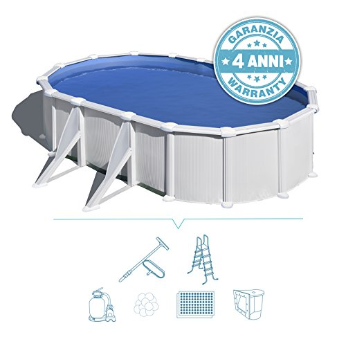 San Marco Piscina fuoriterra ovale Atlantide 500x300 filtro 6m3/h modello full (500x300x120)