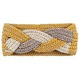 Seeberger Alpaca Mohair Lurex Stirnband Headband Stirnwärmer Ohrenschutz (One Size - Senf)