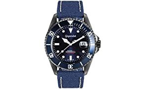 Gigandet Sea Ground Automatic Men's Diver Watch Analogue Wrist Watch Blue G2-022