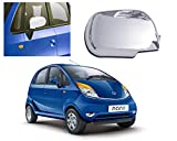 #10: Auto Pearl-Premium Quality Chrome Plated Mirror Cover Set of Only 1 pcs For Right Hand Side For- Tata Nano Type-1