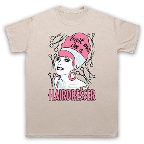 Trust Me I'm A Hair Dresser Funny Work Slogan Herren T-Shirt Beige