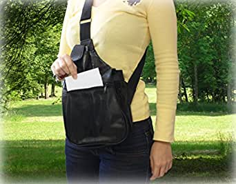 Holster Sac Bandoulière Imitation Cuir - 2 compartiments 7 poches - indiscount ®