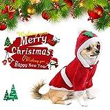 Idefair Babbo Natale Custome Cat Dog Clothes Puppy Hoodie Caldo Giacca Invernale per Piccolo Medio Grande Cane Gatto Kitty Chihuahua Yorkshire S M L XL XXL