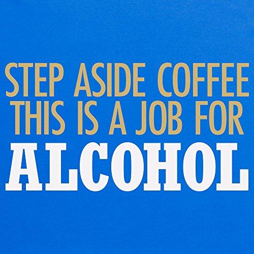 Step Aside Coffee T-Shirt, Herren Royalblau