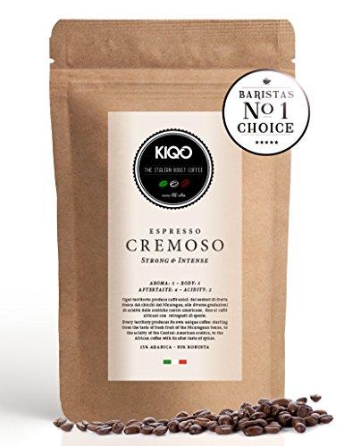 KIQO Cremoso Espresso | ausgezeichneter Premium Röstkaffee | ganze Bohnen | aus Italien in...