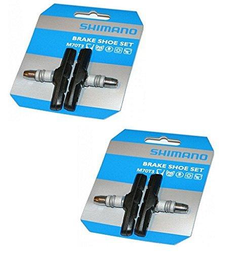 Shimano Bremsschuhsatz M70T3, 2 Paar, schwarz, Y8BM9810A -