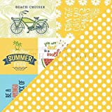 """New! Summertime Double-Sided Cardstock 12""""X12""""-#5 Cut-Aparts 4""""X6"""" & 4""""X4"""" - Case Pack of 18"""
