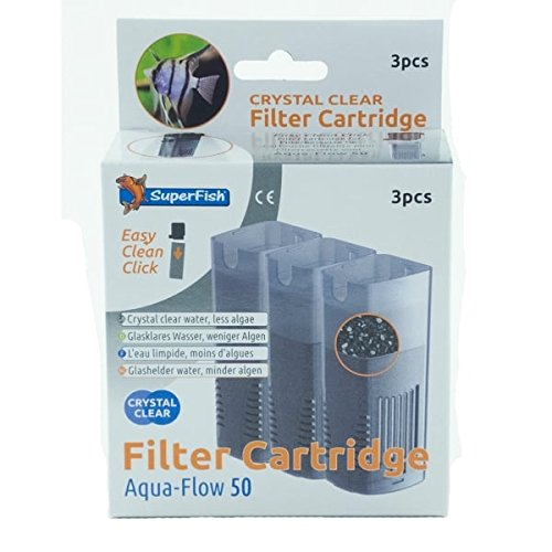 Superfish Aquaflow 50 Crystal Clear Kartusche 3er Pack (Clear Filter Easy)