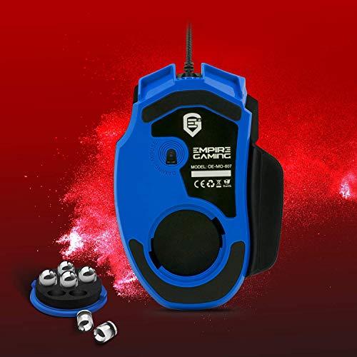 EMPIRE GAMING - Nouveau - Souris gamer filaire Hellhounds gamers - 7200 DPI - 7 boutons programmables avec Logiciel - Rétro-éclairage RGB - ... 11