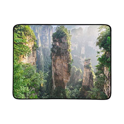 KAOROU Riesige Säule Berg steigt aus dem Canyon Muster tragbare und Faltbare Decke Matte 60x78 Zoll...