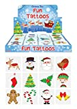 Stelle deinen Kinder Spielzeug Adventskalender selber zusammen Spielsachen Mädchen Junge Einzelne Kleine Spielware Paket (12 x Tattoos Weihnachten)