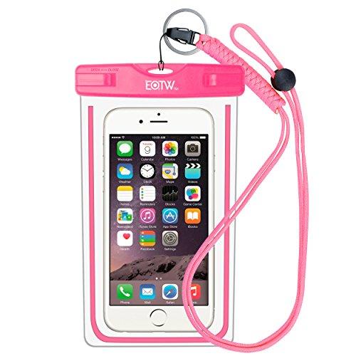 EOTW IPX8 wasserdichte Handyhülle, Wasserfeste Handyhülle Kompatibel mit iPhone XR/X MAX/8/7/6S, Huawei P20/ Mate 20 usw. Handys bis zu 6,5 Zoll, Geeignete Hülle für den Strandurlaub, Pink