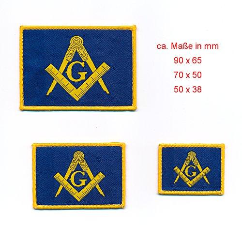 3er Set Masonic Winkel und Zirkel Freimaurer Patch Aufbügler Aufnäher 0848
