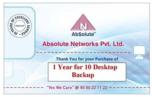 Absolute 10 Desktop Backup  - 10 Users, 1 Year  (Voucher)
