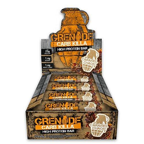 Grenade Carb Killa Hochproteinriegel, Caramel Chaos, 12 x 60 g