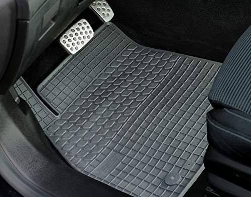 PASSGENAU Fußmatten Gummimatten Auto-matten hoher Rand 4-teilig