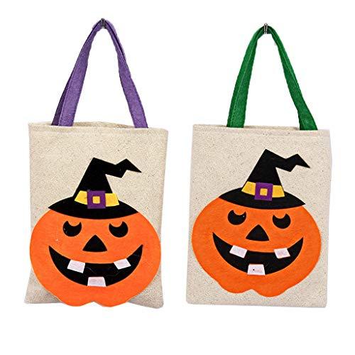 VIccoo Halloween Candy Holder Pfandrecht Aufbewahrungstasche mit Griff Party Favors Geschenk Dekoration - 2