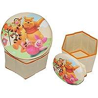 Preisvergleich für 2 in 1: Aufbewahrungsbox + Hocker - Disney Winnie the Pooh aus Stoff - für Kinder - Pop Up Box Jungen Mädchen - Kiste Tonne Kinderhocker mit Stauraum