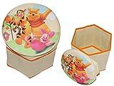 2 in 1: Aufbewahrungsbox + Hocker - Disney Winnie the Pooh aus Stoff - für Kinder - Pop Up Box Jungen Mädchen - Kiste Tonne Kinderhocker mit Stauraum