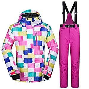 QZHE Skianzug Winter Skianzug Frauen Ski Jacke Und Hose Schnee Warme Wasserdichte Winddichte Ski- Und Snowboard-Anzüge