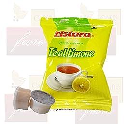 Cialde Capsule Ristora Tè al limone Compatibili LAVAZZA Espresso Point – Confezione da 50 Capsule