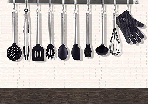 Küchenutensilien Silikon und Edelstahl 10-Teiliges Set, Küchenhelfer Von Chef Essential