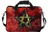 Snoogg Stern Grunge Gedruckt Notebook-Tasche mit Schultergurt 13 bis 13,6 Zoll