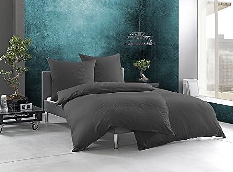 Bettwaesche-mit-Stil Mako-Satin Damast Streifen Bettwäsche