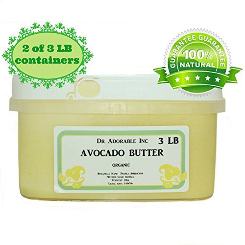 Avocado Butter Pure Organic Refined Raw by Dr.Adorable 6 Lb
